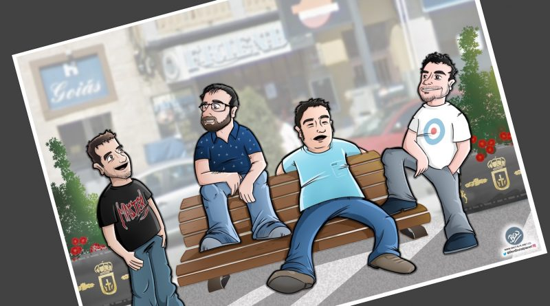 Caricatura Personalizada - Waiting on a Friend (Caricatura grupo de amigos) - tuvidaencomic.com - 4